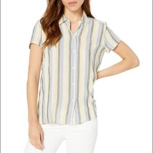 Max Studio Crinkled Button Down Shirt